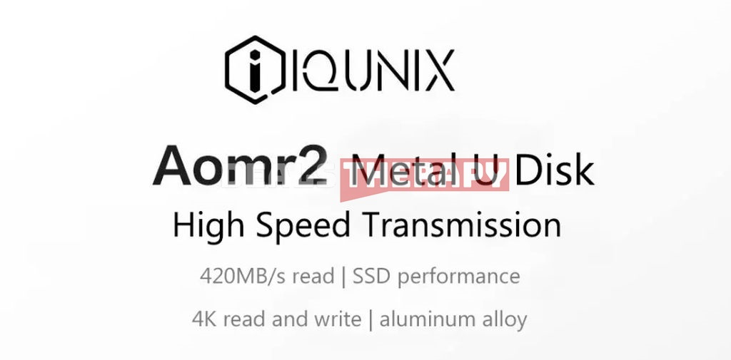 IQUNIX Aomr2 Metal USB Flash Drive