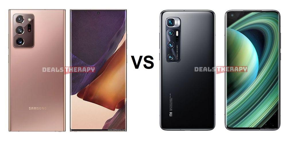 Samsung Galaxy Note 20 Ultra 5G vs Xiaomi Mi 10 Ultra