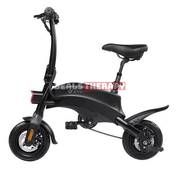 DYU S2 350W 10Ah 36V 10in Folding Moped Bicycle - Banggood