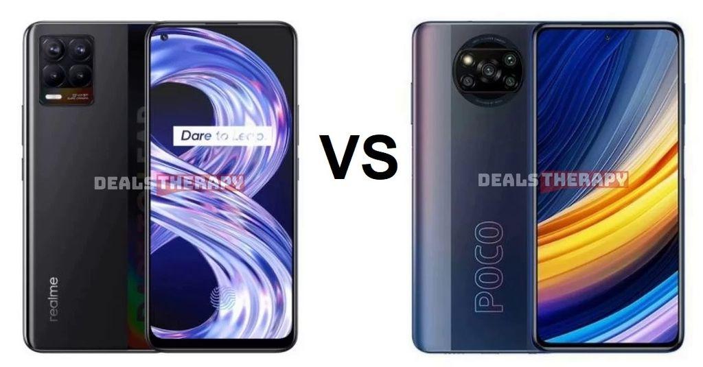 Realme 8 vs Poco X3 Pro