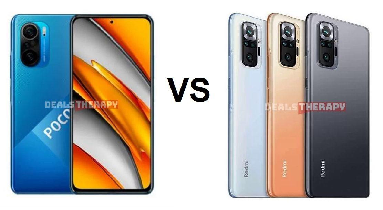 Xiaomi Poco F3 vs Redmi Note 10 Pro