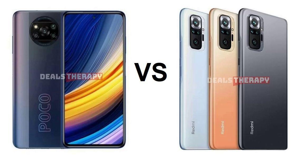 Xiaomi Poco X3 Pro vs Redmi Note 10 Pro