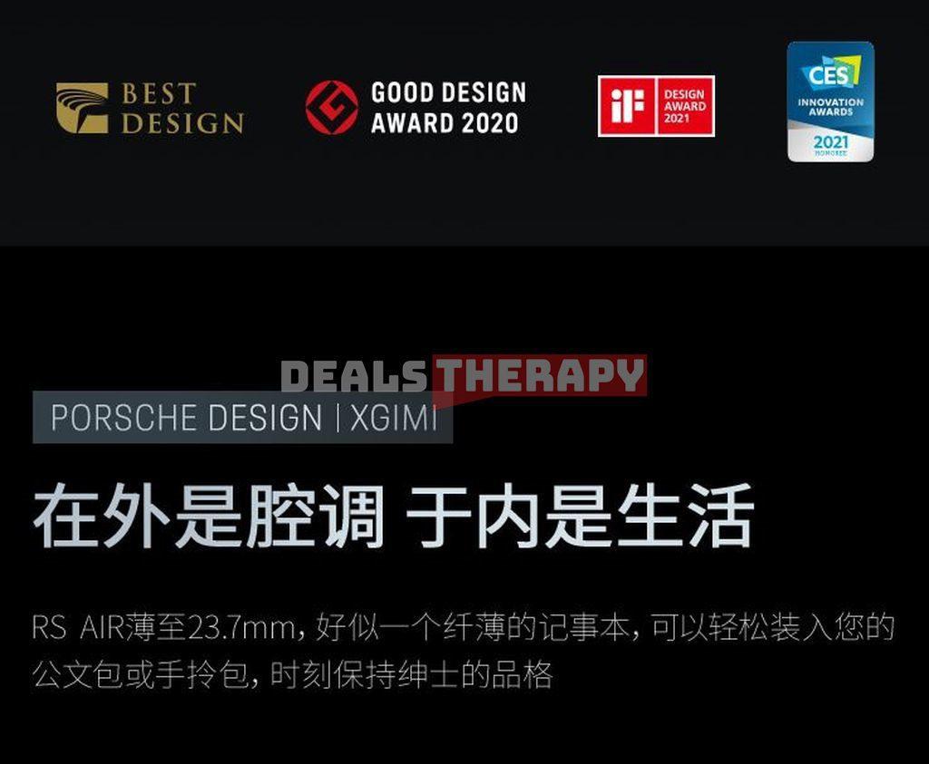 Xiaomi XGIMI RS AIR Porsche Design