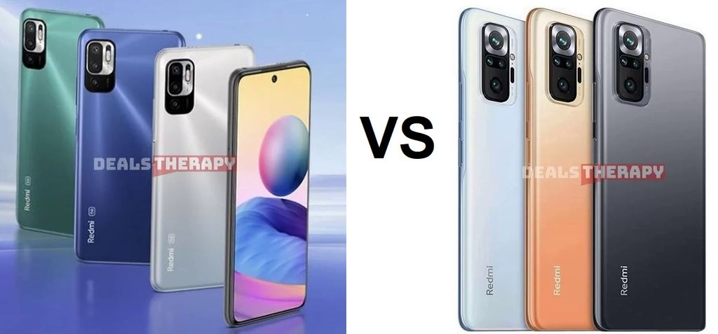 Xiaomi Redmi Note 10 5G vs Xiaomi Redmi Note 10 Pro