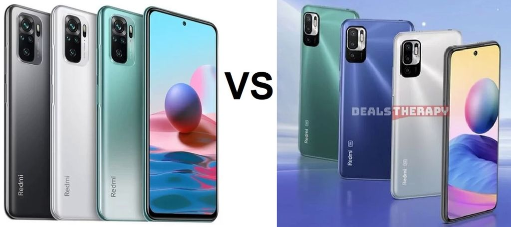 Xiaomi Redmi Note 10 vs Xiaomi Redmi Note 10 5G